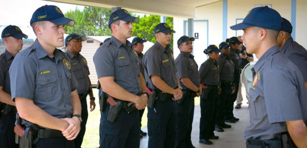 Cadets at the UT System Police Academy