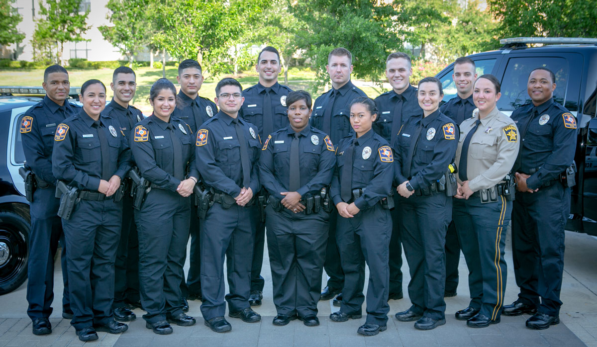 Graduates of the 100th class of police cadets.