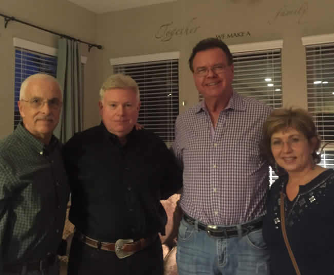 Larry Bloom with Michael Heidingsfield, Del Fisher, Chief of Police, Tarrant Co. Hospital District, and Karen Bloom