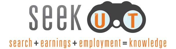 seekUT vertical logo with tagline