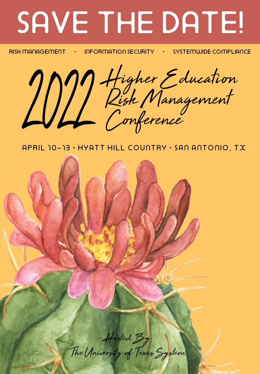 2022 Higher Education Risk Management Conference Save the Date