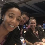 Rayven Hancock, Geoffrey Merritt and Ashley Griffin attended the 2017 TCOLE Conference