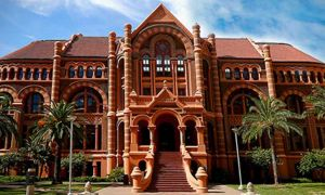 The University of Texas Medical Branch's Ashbel Smith building (a.k.a. 'Old Red')