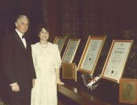 Mr. and Mrs. Powell at a Retiring Regents' Event, January 19, 1985